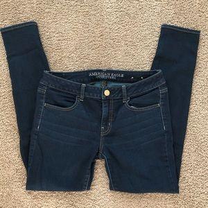 AMERICAN EAGLE Jeans Jeggings size 8 Dark Wash
